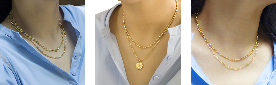 Layered Gold Necklaces