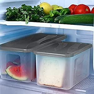 2000 ml storage containers for kitchen Bread box Plastic jars
