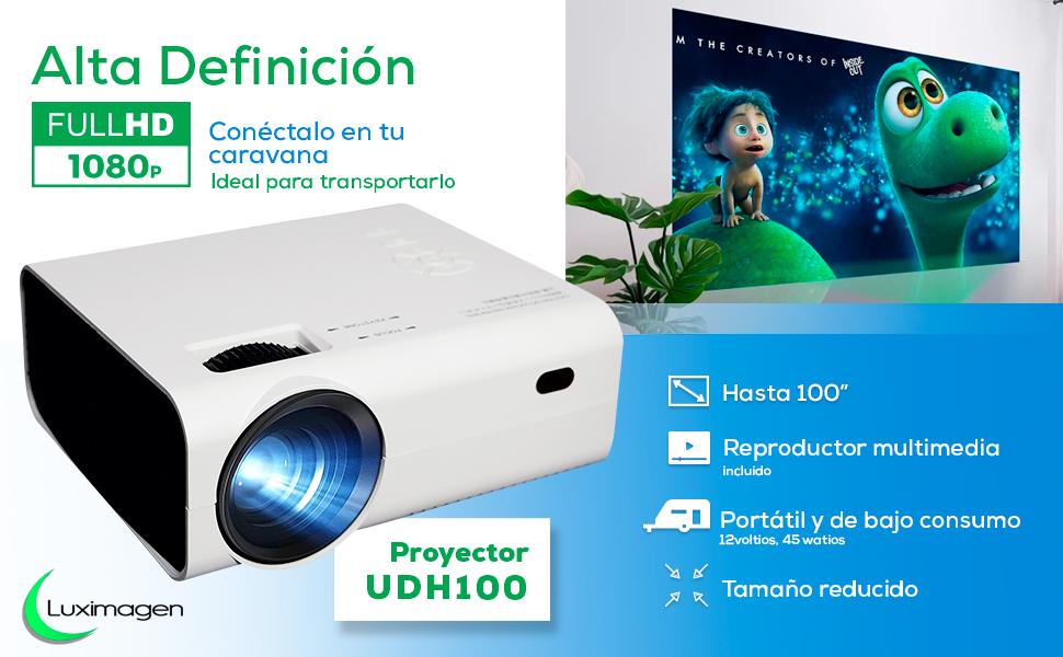 proyector fullhd nativo, 4k nativo, proyector wimius, proyector yaber, bosnas, portatil, silencioso