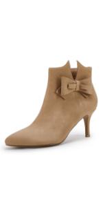 Womens Khaki Ankle Boots