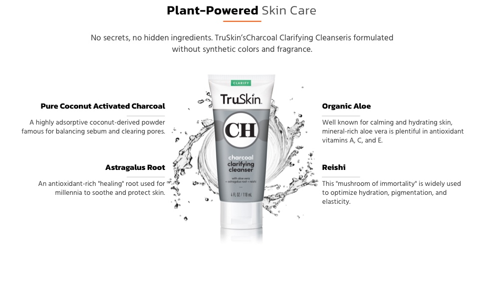 TruSkin Charcoal Face Wash ingredients