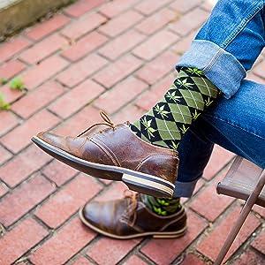 Argyle Marijuana Socks