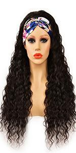 deep wave headband wig