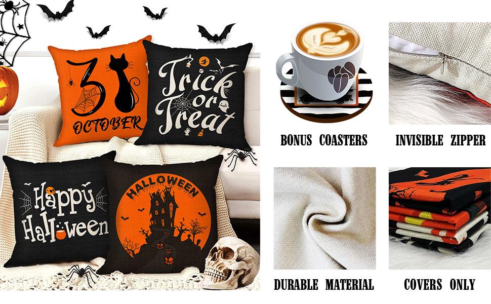 18x18 halloween pillow covers