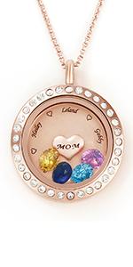 Customize birthstone Necklace