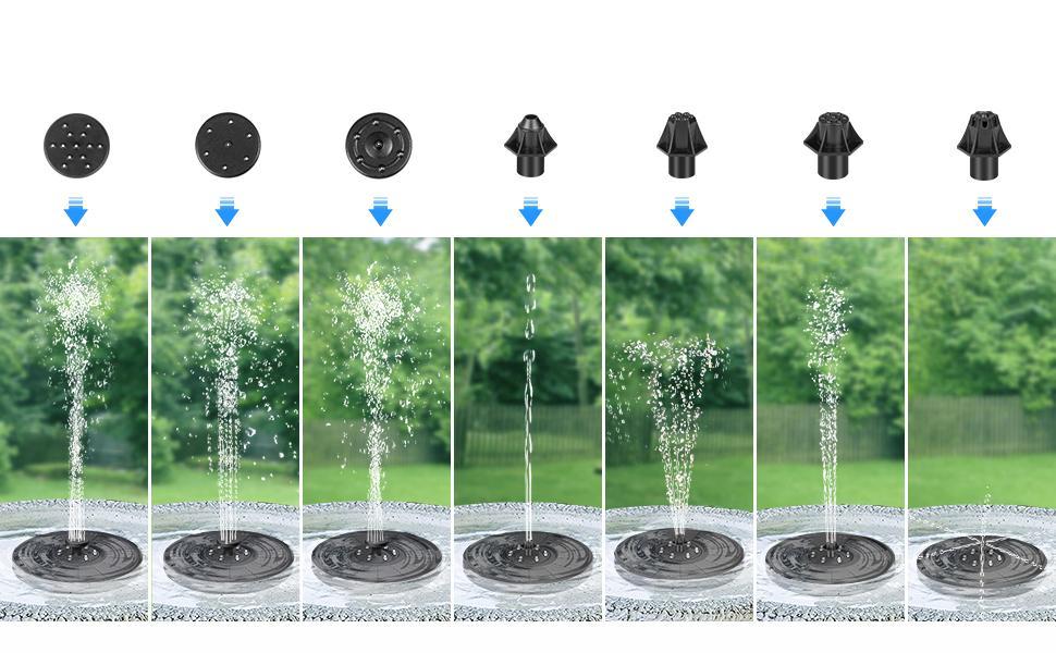 7 Different Nozzles