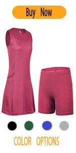 women tennis dress set skirted leggings