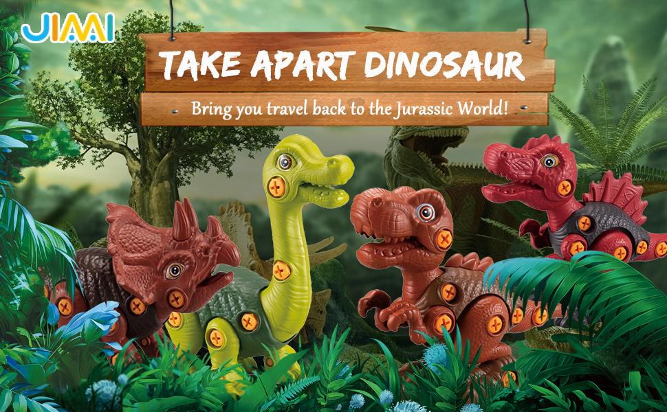 4 pack dinosaur bring you travel back to the Jurassica World