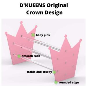 Acylic Headband Display Stand in Pink Crown