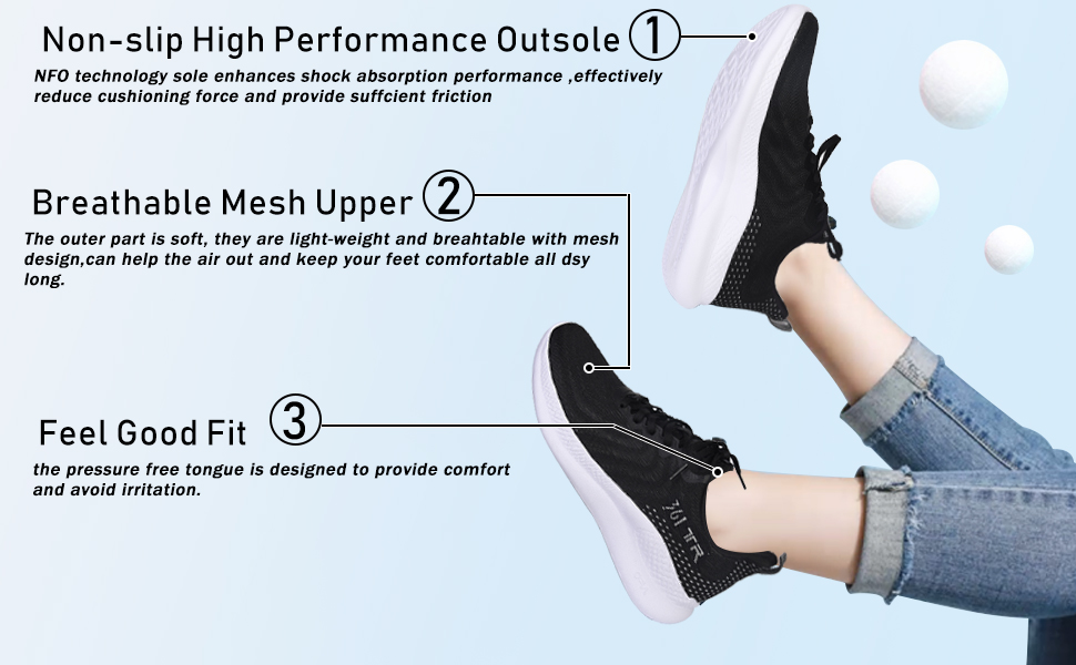 non-slip high performance outsole breathable mesh upperpressure free tongue is designed
