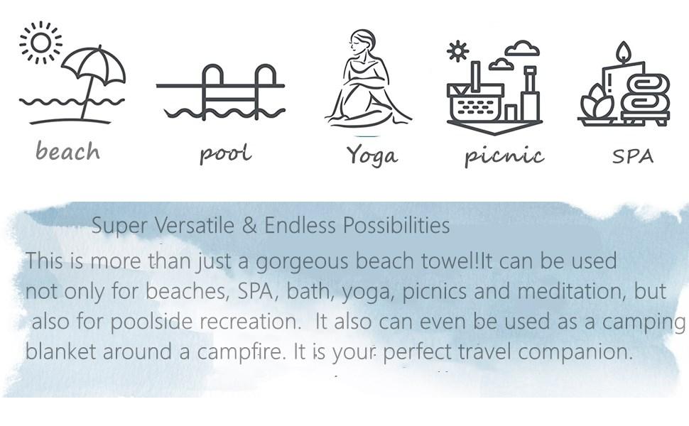 functional beach towel