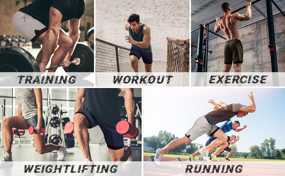 mens shorts for various sports