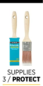 3 / Protect Minwax Polycrylic Synthetic Brushes Supplies