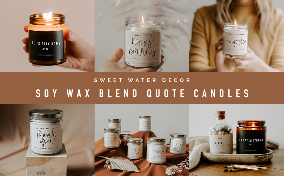 sweet water decor soy candles hand poured gluten free phthalate free cruelty free non-toxic cotton