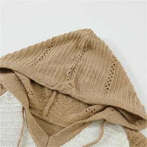 Actloe Women Striped Color Block Hoodies