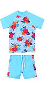 Girls Swimsuit Two Piece Blue
