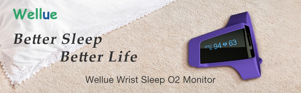 wellue wrist sleep O2 monitor visualoxy