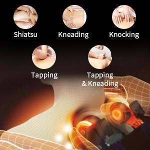 massaging recliner with heat