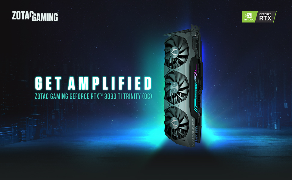 ZOTAC GAMING GeForce RTX 3080 Ti Trinity (OC) Graphics Card ZT-A30810D-10P ZT-A30810J-10P NVIDIA