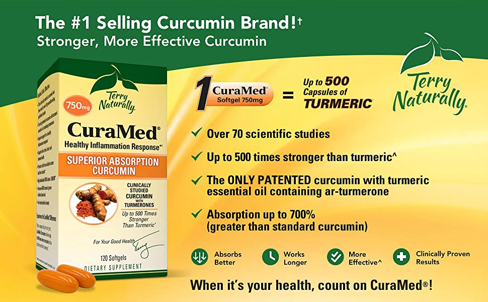 CuraMed - The #1 Selling Curcumin Brand