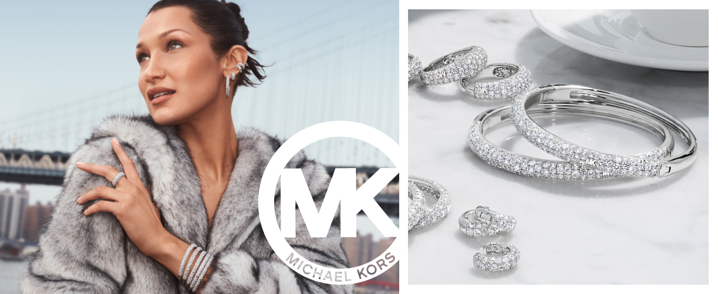 Michael Kors Jewelry featuring Model Bella Hadid and Silver Jewelry