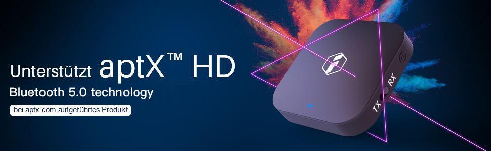 Bluetooth 5.0 Transmitter, unterstützt aptX HD