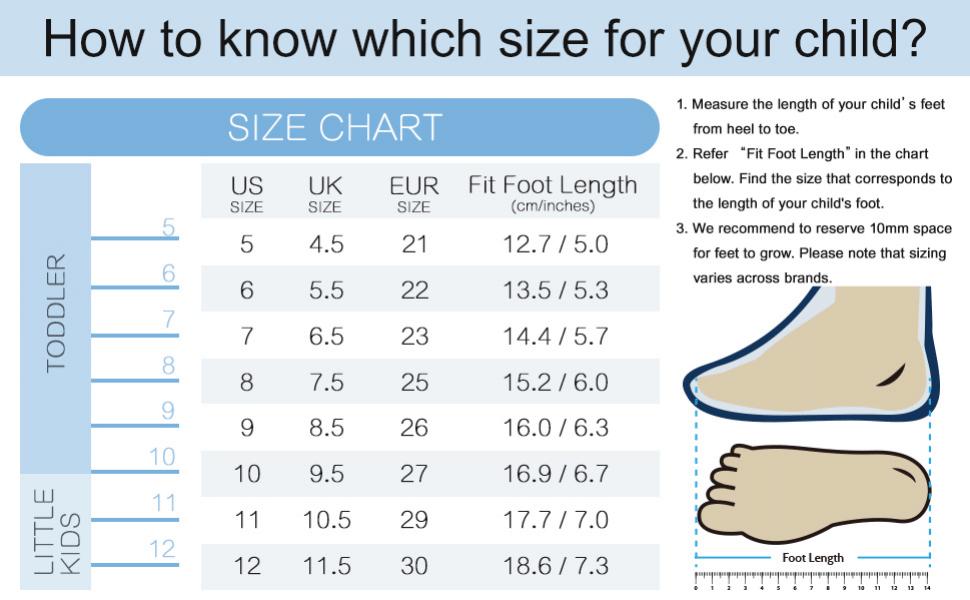 5-12尺码表