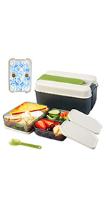 bento box, lunch box with ice pack