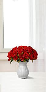red roses artificial roses red flowers roses bouquet