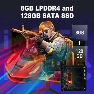 8GB LPDDR4 128GB SATA SSD