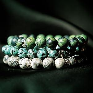 10:10 Bracciali elastici con pietre naturali diametro 8 mm