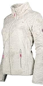 chaqueta softshell mujer chaqueta con capucha polar impermeable senderismo forro de poliéster