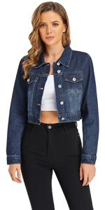 crop jean jackets women