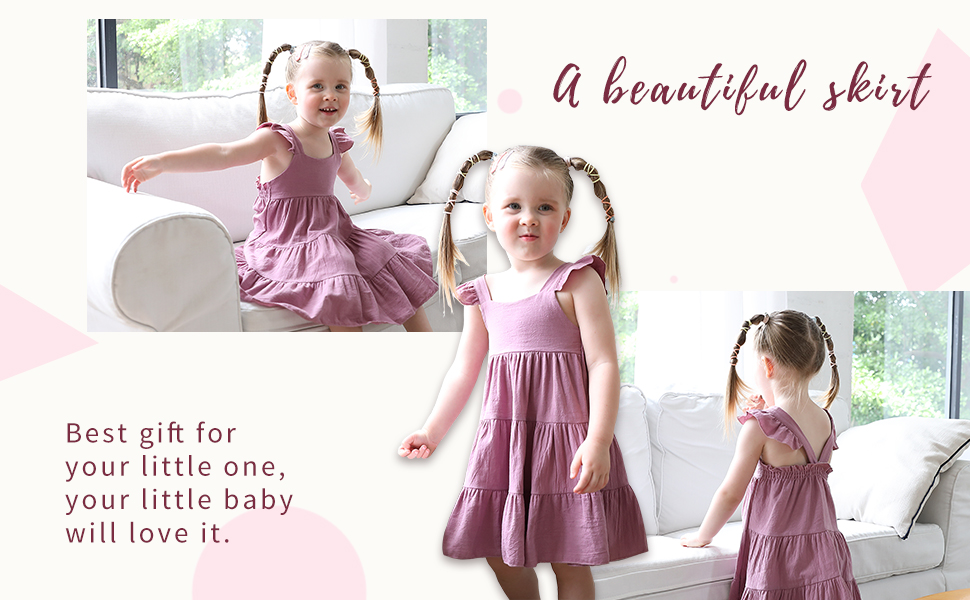 baby solid color dress