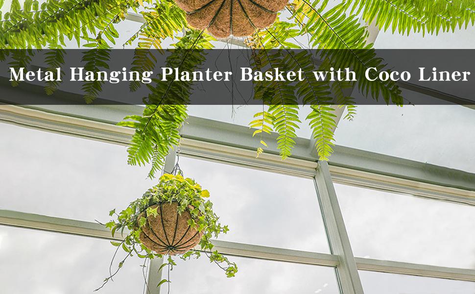 Metal Hanging Planter Basket
