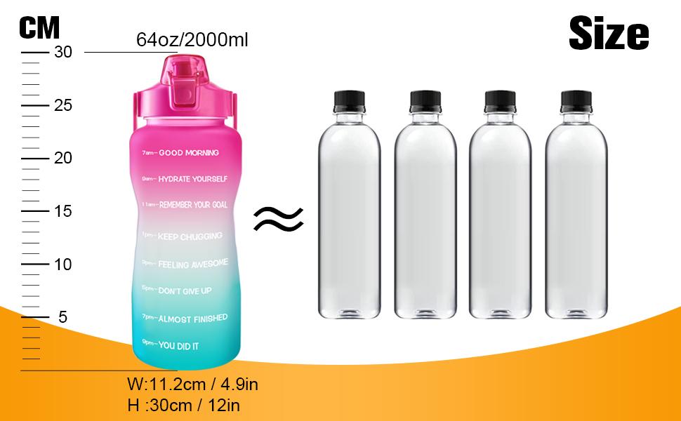 64 oz water bottle