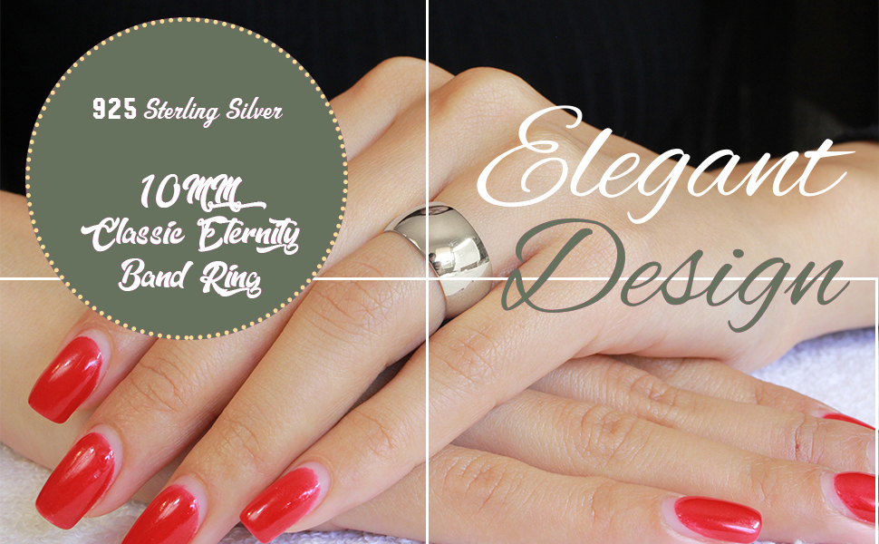 Wedding ring on hand model