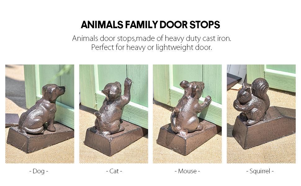 animals family door stops