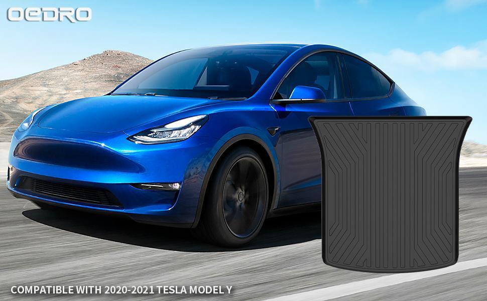 oEdRo cargo Mats Compatible for 2020-2021 Tesla Model Y