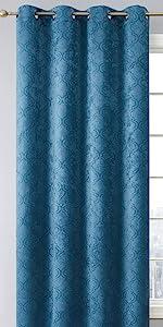 Redmont Collection Grommet Window Curtain Teal