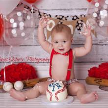 red suspender set for baby