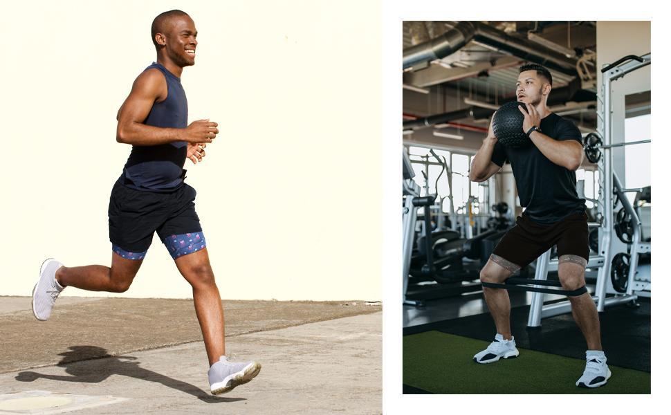 running shorts for men 7 inch drawstring shorts gym shorts with pockets training shorts fitness