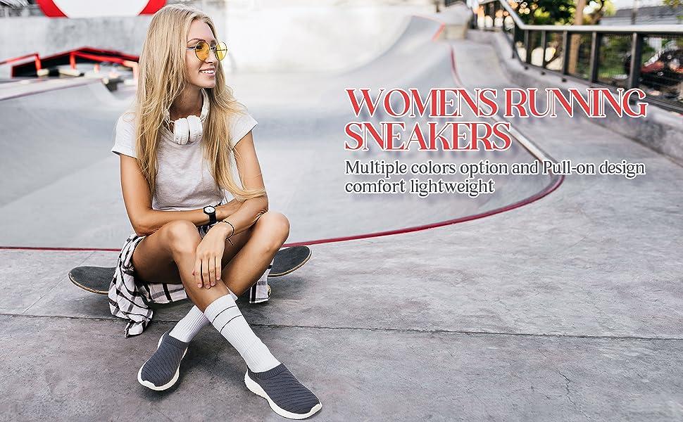 womens sneaker white black grey dance hiking comfy footwear soft girl gym wide width pink blue woman