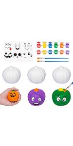 Halloween Squishes Pumpkins Crafts for Kids
