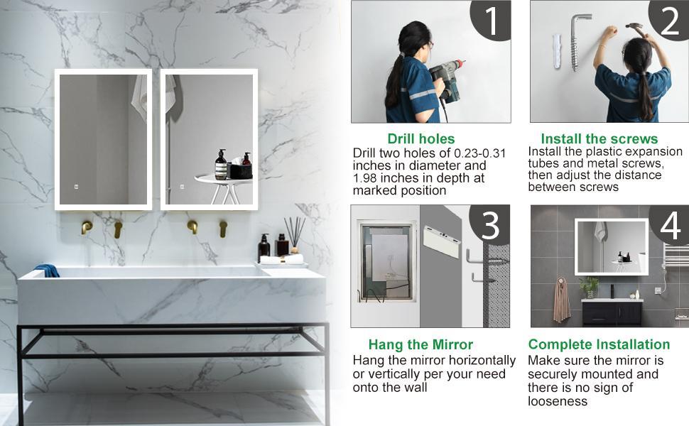 Mirror installation instructions