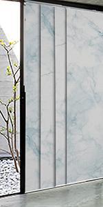 GoDear Design Marble Printed Adjustable Sliding Panel Track Blind, Icy Hops