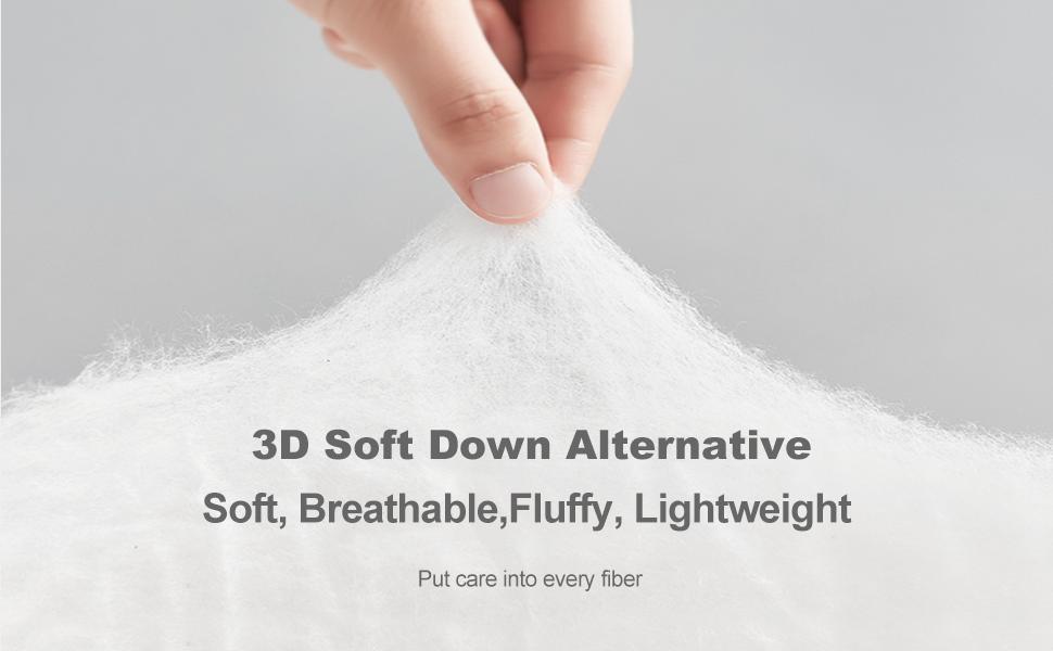 3D soft Down Alternative Fill