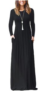 Long Sleeve Maxi Dress for Women