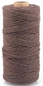 Brwon Macrame katoenen touw koord 3MM