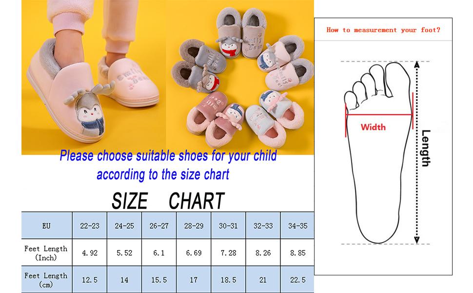 Zapatillas de Estar por Casa para Niñas Niños Invierno Zapatillas Interior Casa Caliente Pantuflas